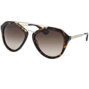 Prada Sunglasses Gold/Brown w/Brown Gradient Lens